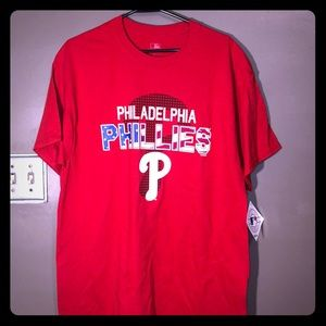 Men's Philadelphia Phillies Tee Size Large MLB NEW